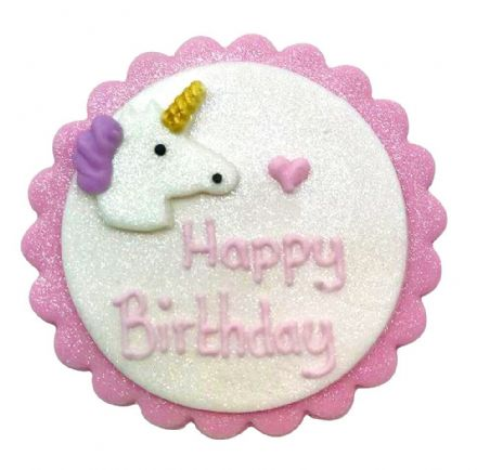 Happy Birthday Unicorn Plaque